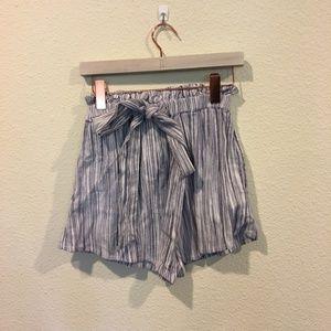Amuse Society Shorts - Amuse Society stripe paperbag waist shorts